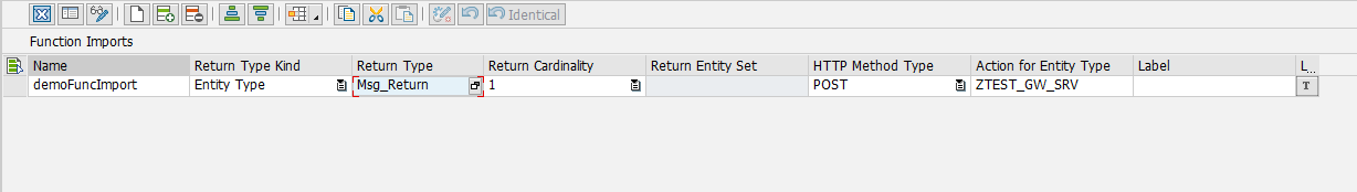 Function Import Options