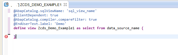 ABAP CDS View-0