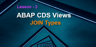 ABAP CDS Views Joins