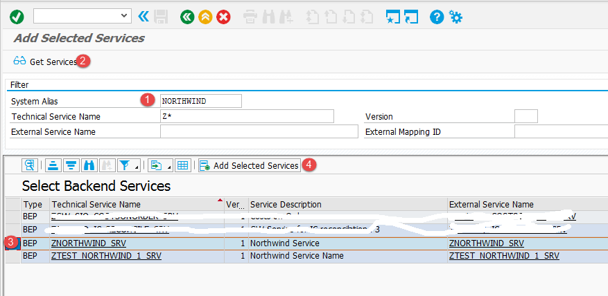 Add Selected Services