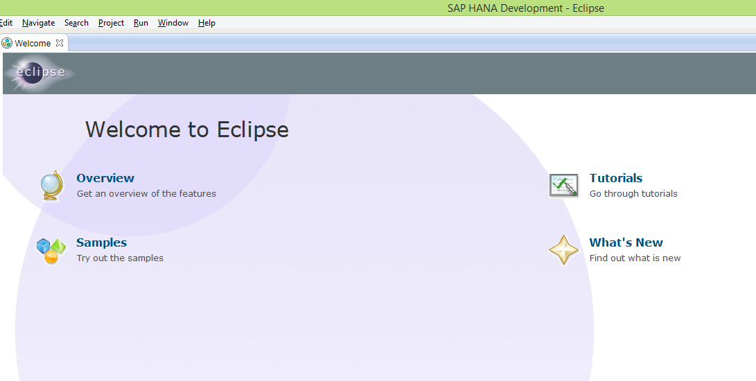 Eclipse Welcome Page