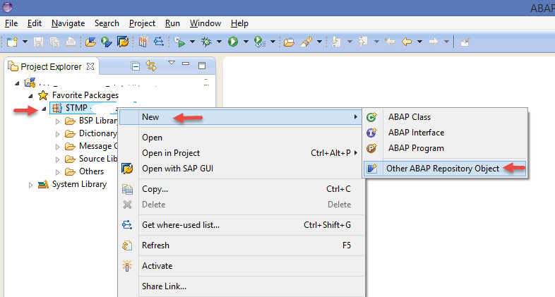New ABAP Repository Object
