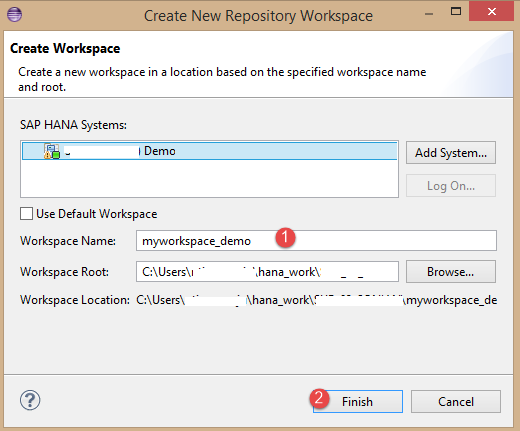 Create New Repository Workspace