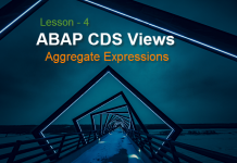 ABAP CDS Views Aggregate Expressions