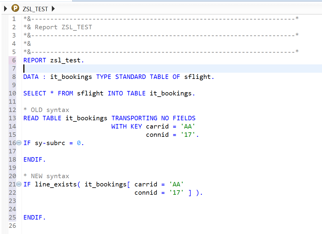 Internal Table Expressions in ABAP 7 4 Release | SAP FREE