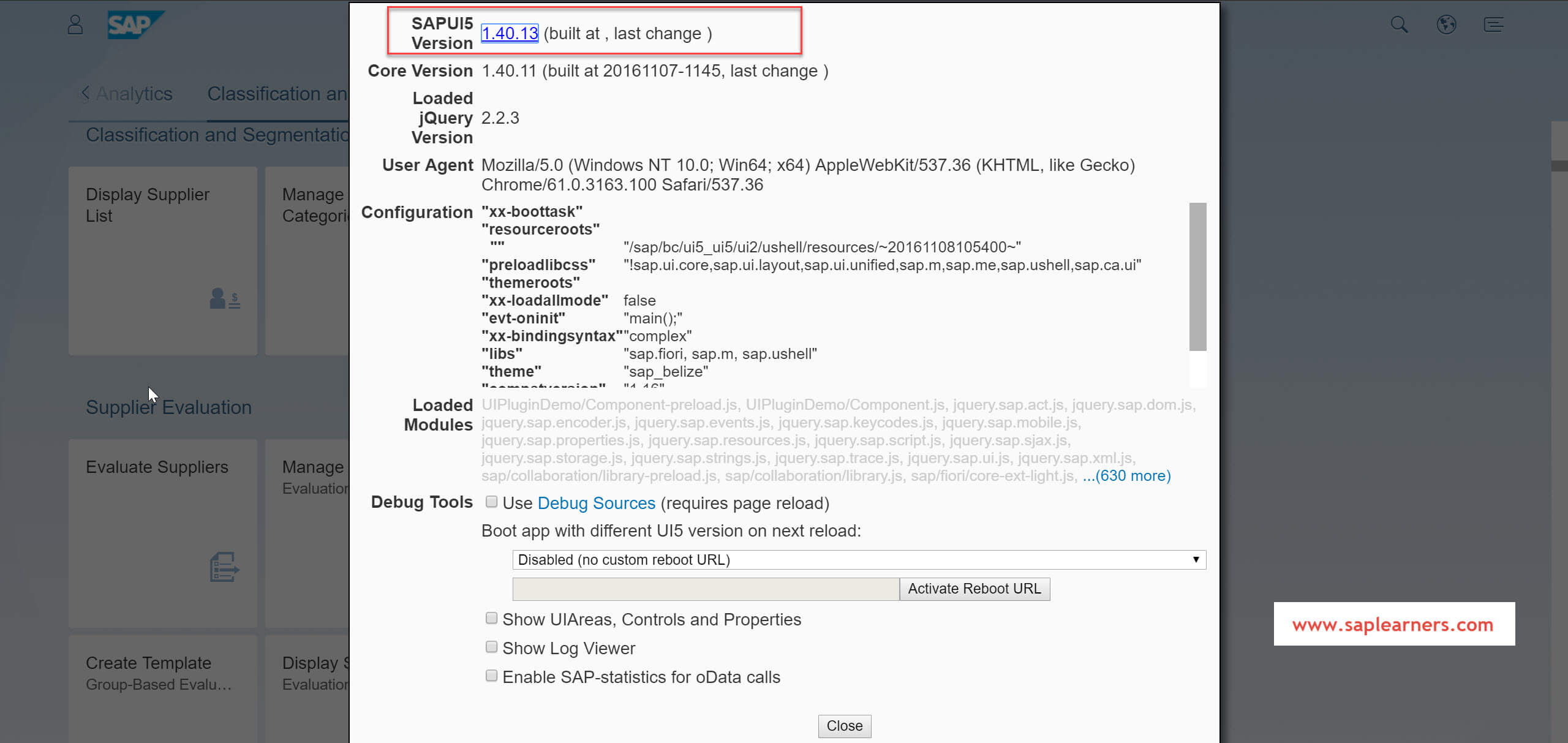 How to check the current SAP UI5 library version | SAP FREE