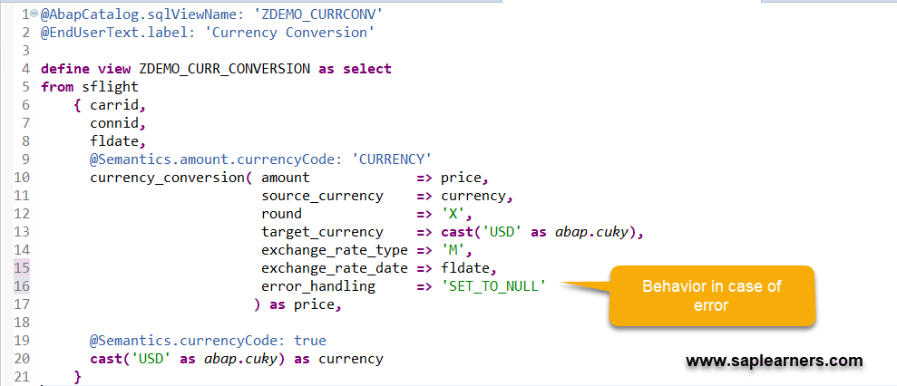 Unit and Currency Conversion in ABAP CDS Views – SAP FREE Tutorials