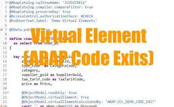 Virtual Element-ABAP Code Exists in CDS View